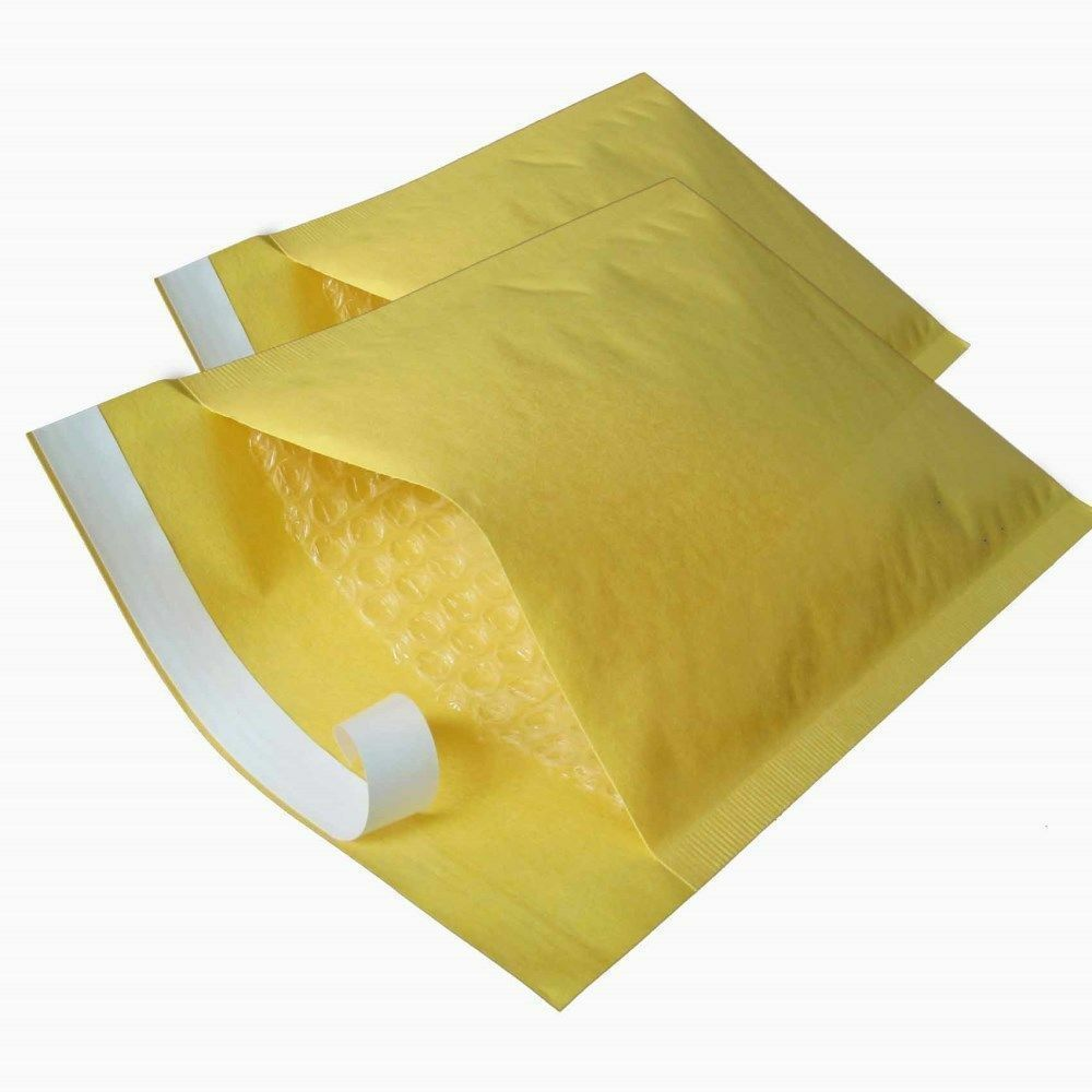 BUDGET RANGE PADDED ENVELOPES BAGS    'ALL SIZES' - WHITE AND gold