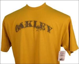Autentico-Con-Etiqueta-Hombre-Oakley-camiseta-Pequeno-Cuello-Redondo-COSECHA