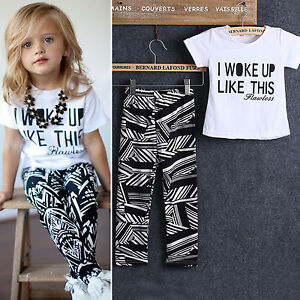 2PCS-Set-Toddler-Kids-Baby-Girls-Short-Sleeve-T-shirt-Top-Trouser-Fashion-Outfit