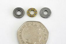 Meccano Miniature Compact Ball Thrust Bearing Axial Thrust Race 4mm Shaft Bore.
