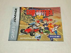 CAR-BATTLER-JOE-Nintendo-Game-Boy-Advance-VINTAGE-MANUAL-only-GBA