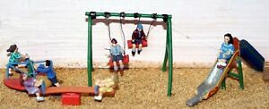 Children-Playground-F152-UNPAINTED-OO-Scale-Langley-Models-Kit-People-Figures