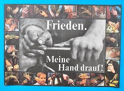 Ddr Plakat Poster 1194 | Frieden. Meine Hand Drauf! | 81 X 57 Cm Original