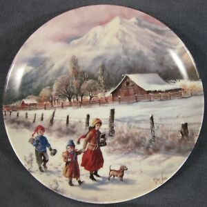 Hand-In-Hand-Collector-Plate-Nature-039-s-Child-Mimi-Jobe-Knowles-China-84-K41-100-6