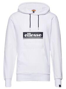 ellesse-Mens-Overhead-Velino-Logo-Hooded-Sweatshirt-Top-White-Hoodie
