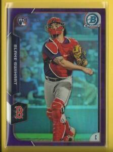 Blake-Swihart-RC-2015-Bowman-Chrome-PURPLE-Refractors-Rookie-Card-250-Red-Sox