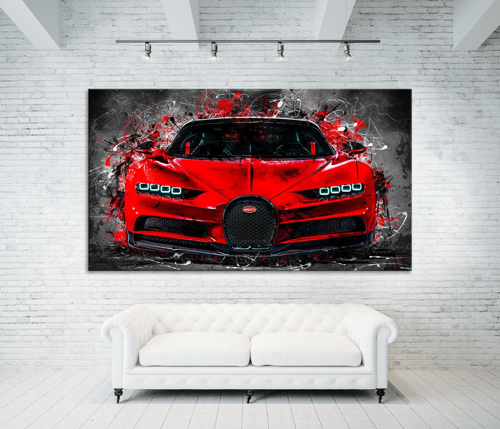 Toile Image Bugatti Veyron Modern Voiture Modern Veyron Abstrait Poster XXL la fresque 0e0bdb