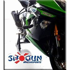 Kawasaki 2013-17 ZX6R ZX6-R Shogun Frame Sliders  No Cut Version - Black