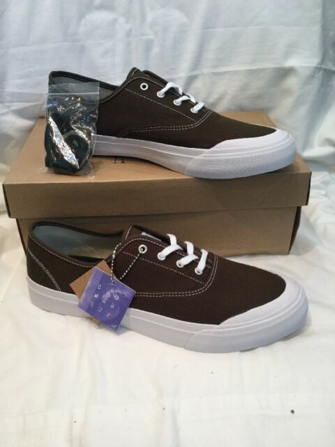 Genuine Mens Huf Cromer Wool Drab Brown Canvas Skate Shoes UK Size 11 BNIB