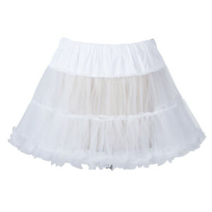 "18"" 50s Retro Underskirt Swing Vintage Mini Petticoat Fancy Net Skirt"