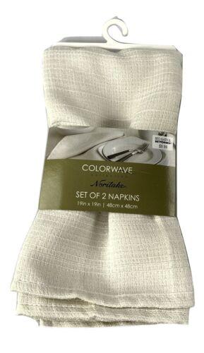 Set of 2 Noritake® Colorwave Napkins in Cream