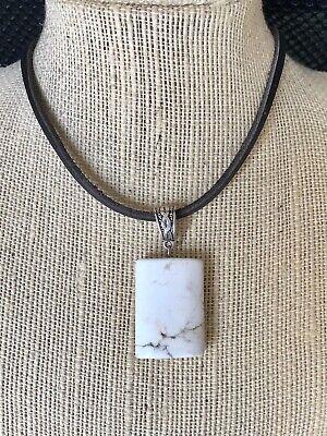 dyed Magnesite pendulum pendant