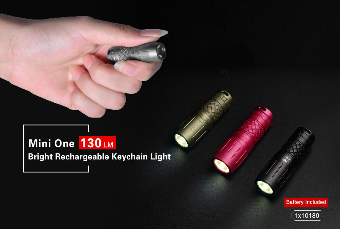 Klarus Mini One 130 Lumen Bright Rechargeable Keychain Light - Free Delivery