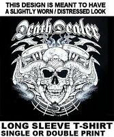 SKULL DEATH DEALER EVIL DEMON SATAN RAM HORNS V-TWIN ENGINE BIKER T-SHIRT WS8