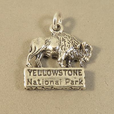 .925 Sterling Silver YELLOWSTONE BUFFALO CHARM NEW National Park 925 NP17