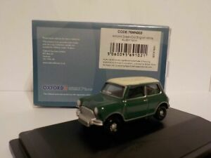 Model-Car-Austin-Mini-Green-White-1-76-New