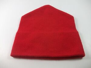 Mad-Hatter-100-Wool-Red-Made-Canada-Winter-Hat-Toque-Beanie-Stocking-Cap