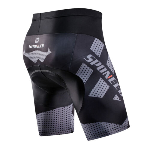 SPONEED Mens Cycling Shorts Padded Bike Tights MTB Road Cycle Sportswear Bottoms