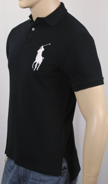 3ceeb2935dc5af Polo Ralph Lauren Big Pony Golf Shirt Black Men's Custom Fit M for ...