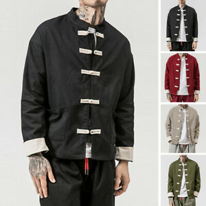 Men-039-s-Chinese-style-Tang-Coat-Traditional-Jackets-Vintage-Autumn-Causal-Jackets