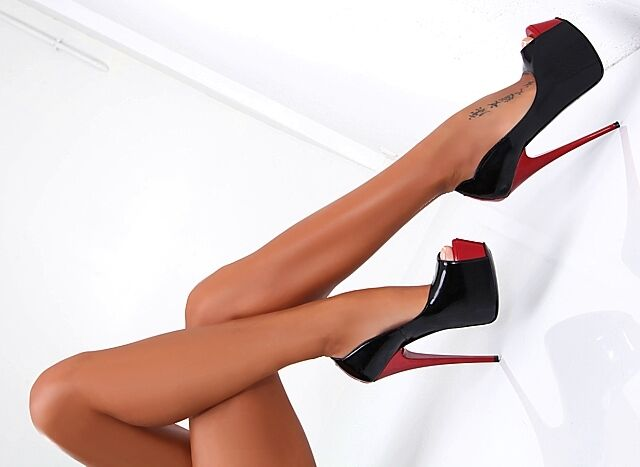 HOHE LEDER PUMPS black red 1969 ITALY RC5 LUXURY LEATHER SKY TOP HIGH HEELS 39