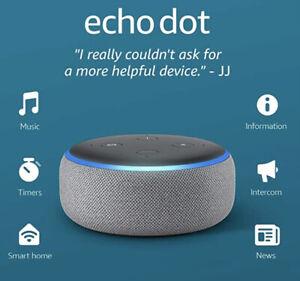 Amazon Echo Dot (3rd Generation) Smart Speaker with Alexa - Heather Gray