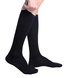 99de816779 Men's Comfy Travel and Dress Compression Socks, 15-20mmHg, Knee High ...