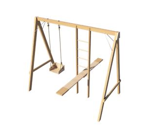 Kids Swing Set Ladder Seesaw Plans Diy Playground Backyard Play Set