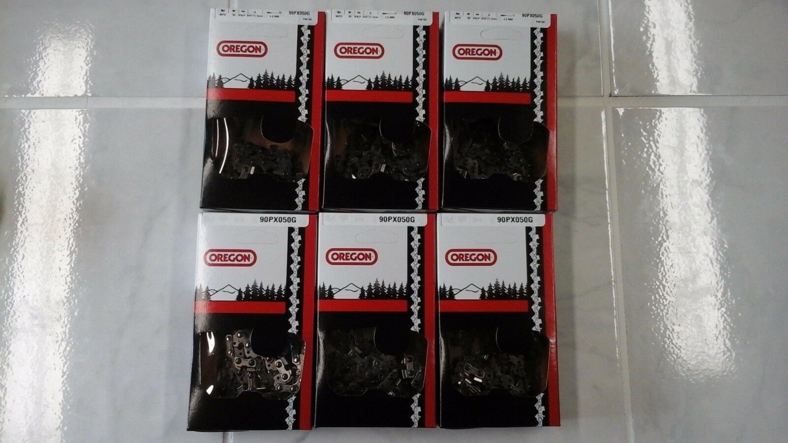 6 cadenas de motosierra 90PX050G Oregon 14  3 8 Lp .043 50 DL ajusta MS171 MS 181 Sierra