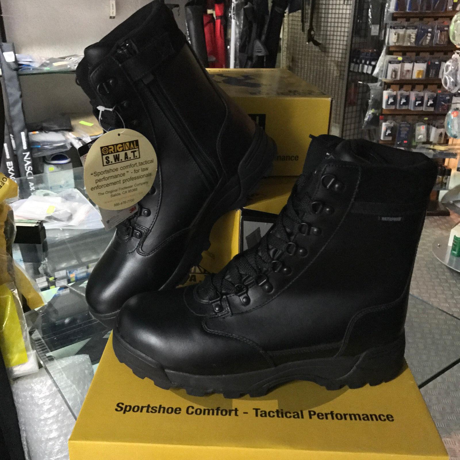 ORIGINAL SWAT Anfibi 39 1274 Leather WATERPROOF zip Classic 9