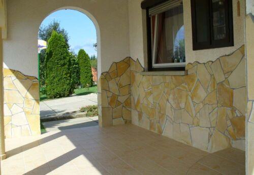 MUSTERPAKET Mediterrane Kalkstein Polygonalplatten-Toskana gelb 3-4cm