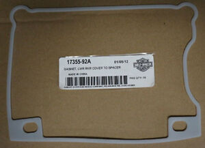 Image is loading HARLEY-PART-17355-92A-GASKET-SPACER-TO-LOWER-