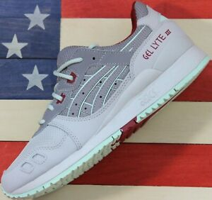 Asics-Gel-Lyte-III-3-Running-shoes-Grey-Neon-Yellow-White-H7LOL-9696-Men-039-s-7-D