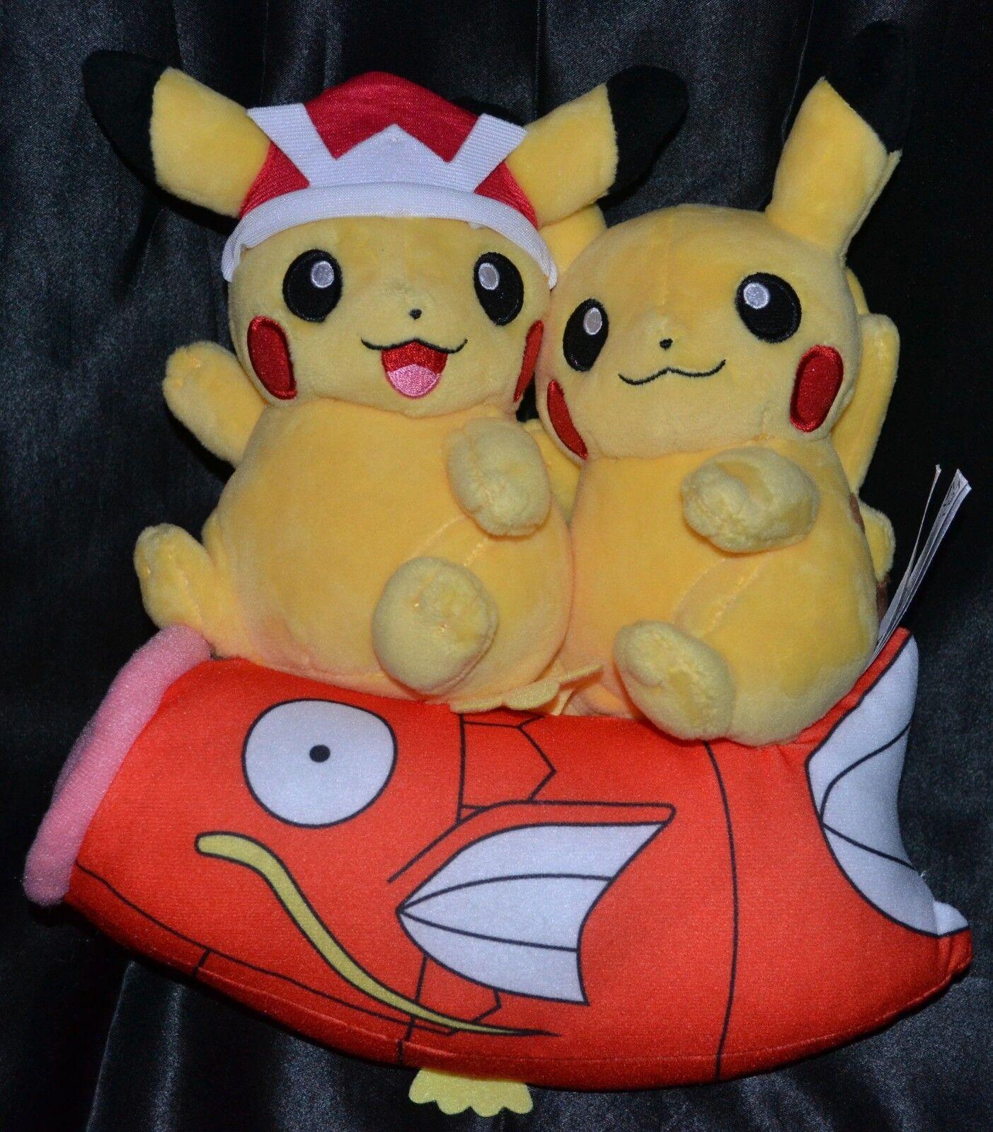 25.4cm Pikachu Paar Reitend Magikarp Rides Poké Plüsch Pokemon Center Poke