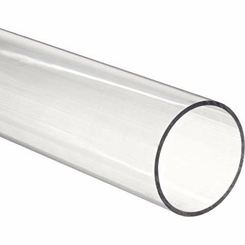 "Nominal x2 48/"" Polycarbonate Round Tube Clear 1//4/"" ID x 1//2/"" OD x 1//8/"" Wall"
