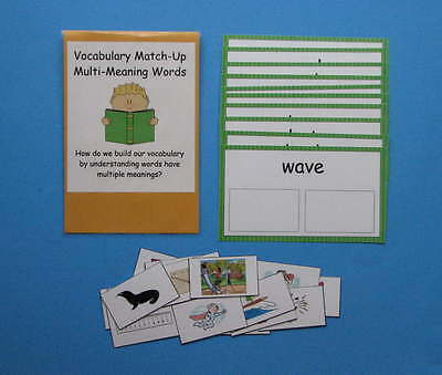 Teacher Made Vocabulary Center Educational Resource Game Multi-Meaning Words