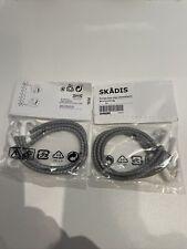 Ikea Skadis Lot Of 2 Elastic Cord Gray 3 Pack