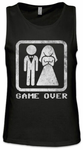 Game Over Couple Men Tank Top Marriage just married Fun Geek Bachelor Party