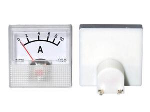 MINI 40x40x25mm 0-1.0 A DC Einbau Messinstrument Analog Amperemeter mit Shunt