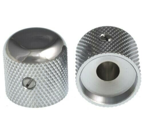 """GOTOH Metal Dome Knobs for 1//4/"""" pots CHROME 2"""