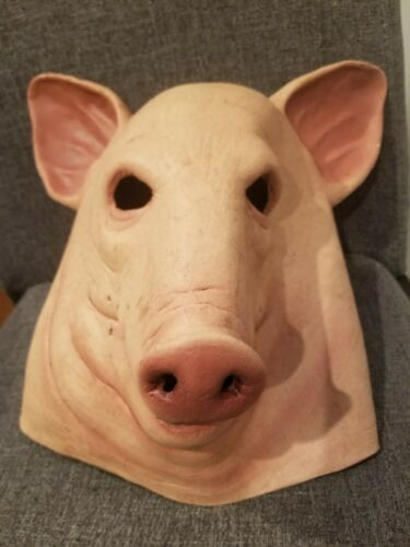 SCARY HALLOWEEN  BLOOD PIG MASK LATEX HORROR