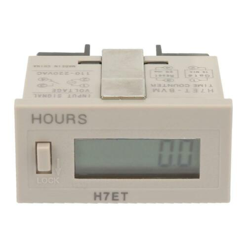 H7ET-BVM Resettable 0-999999 LED Display Panel Digital Counter Cumulative 220V