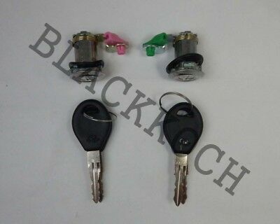 Pair Door Lock Cylinder Set W// Key for Nissan Datsun 720 Pickup