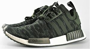 buy online d7e72 f0d66 Image is loading ADIDAS-NMD-R1-PRIMEKNIT-NIGHT-CARGO-GREEN-CQ2445-