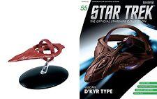 Eaglemoss Diecast Star Trek ST0055 STARSHIPS VULCAN D'KYR TYPE & MAGAZINE #55