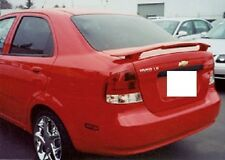 FITS CHEVY AVEO SEDAN 2004-2006 BOLT ON 2-POST TRUNK SPOILER W/LIGHT UNPAINTED