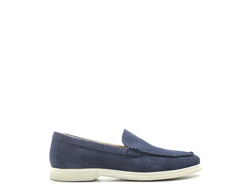 Schuhe FRAU Mann Blau Wildleder  32C1-JE