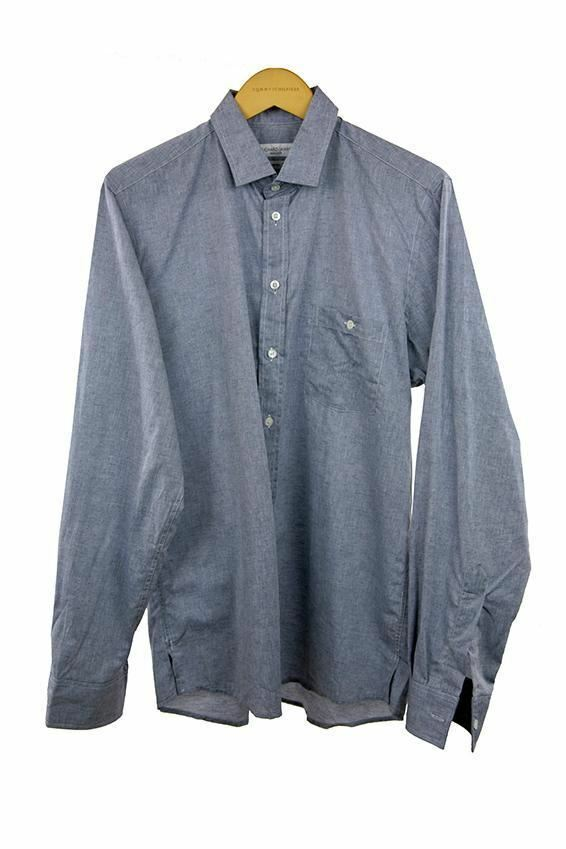 Richard James light Grau long sleeve shirt Größe 16.5   120 C04