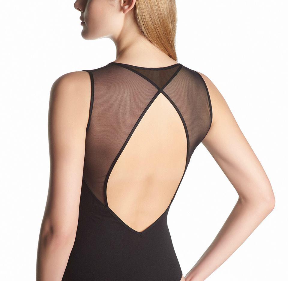 goldblue Perfectline bodywear stringbody, Top, Tüll Opaque, black, M=40-42