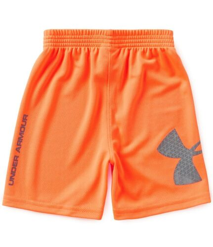 Under Armour Boys Heat gear Striker Shorts Blaze Orange 18 M NWT
